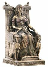 """9.25"""" Egyptian Queen Sitting on Throne Statue Sculpture Egypt Figure"""