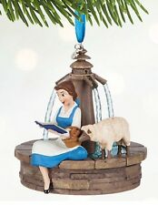 Disney Belle Singing Sketchbook Xmas Decoration Ornament Beauty & The Beast