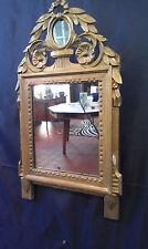 Miroir de style Louis XVI  en bois doré XIX ème