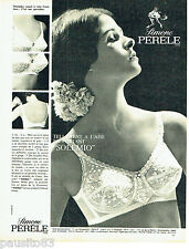 PUBLICITE ADVERTISING 056  1965  Simone Pérèle soutien gorge Sole mio