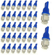 100Pcs Super Blue T10 Wedge 5-SMD 5050 LED Light bulbs W5W 2825 158 192 168 194