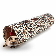 Pet Cat Tunnel Cat Play Tunnels Leopard Print Design Cat Tunnel Play Funny Toys