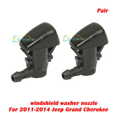 For 2011-2014 Pair of Jeep Grand Cherokee Windshield Washer Sprayer Nozzle