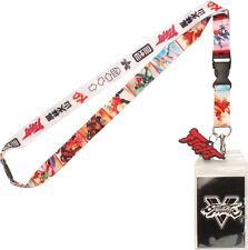 STREET FIGHTER V ALL OVER CHARACTER PRINT LANYARD *INCLUDES STICKER (NEW)