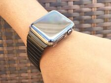 BLACK Series 1 2  Link Bracelet Strap Band For Apple Watch Stainless Steel 42mm