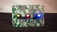 3 HOLE Digital Camo 3D WRAP - Forest w/ 3 LED toggle switches of your choice