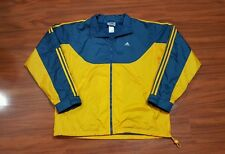 Vintage 90's ADIDAS Windbreaker Jacket Track Coat men's L hip hop Colorblock VTG