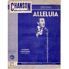 Partition / Sheet music Charles AZNAVOUR Alleluia PS Blue Sleeve Sheet Music