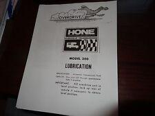Vintage HONE-O-DRIVE Overdrive Manual Copy
