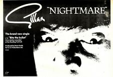 10/10/1981Pg19 Single Advert 7x10 Gillan, Nightmare C/w Bite The Bullet
