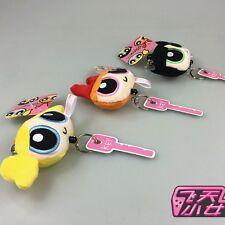 3 pcs The Powerpuff Girls Doll Blossom Buttercup Keychain Cute Pendant Gift