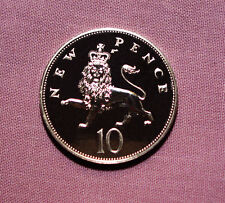 1972 PROOF TEN PENCE COIN - Scarce Issue Fewer than Kew Gardens 50p