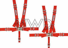 G-Force Red Pro Series 5 Point Shoulder Harness Racing Seat Belts SFI 2 Sets