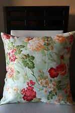 Pretty Boho Cottage Shabby Chic Floral Throw Pillow Case Cover 18x18 US Seller