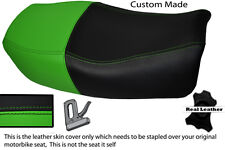 GREEN & BLACK CUSTOM FITS KAWASAKI ZR 750 ZEPHYR 91-99 DUAL LEATHER SEAT COVER