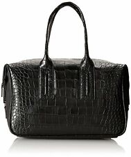 """French Connection Shes A Lady Satchel Black Crocodile 12"""", 7"""", 8"""" and 9"""""""