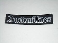 ANCIENT RITES BLACK METAL EMBROIDERED PATCH