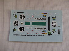 decals decalcomanie  porsche carrera sonauto bp lm le mans 1973 1/43