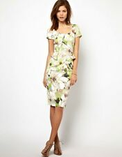 STUNNING KAREN MILLEN SIGNATURE STRETCH FLORAL MULTI DRESS UK SIZE 6