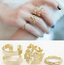 3PCS/Set Cute Women Midi Finger Ring Gold Above Knuckle Stack Rings Jewelry New