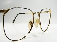 Monet Gold Black Ebony Woman's Wire Rim Metal Eyeglass Frame Vintage Medium
