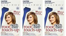 3 x CLAIROL NICE N EASY TOUCH-UP ROOTS 7 DARK BLONDE 100% Brand New
