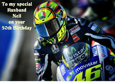 Valentino Rossi A5 Birthday Card Personalised Anniversary Dad Son Husband Uncle