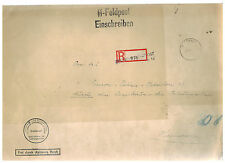 1941 Germany Waffen SS Feldpost Netherlands Oversize Cover Hannover Dienstpost