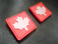 2 GITD 3D CANADIAN FLAG RUBBER TRACKER VELCRO® BRAND FASTENER PATCH