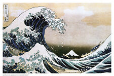 "Hokusai The Great Wave off Kanagawa Poster 24"" x 36"" Japanese Woodcut"
