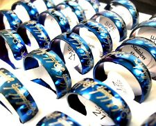 36PCS blue Stainless Steel Men's 6MM LOTR Lord of Rings lots wholesale