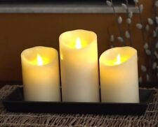 "Set of 3 Vanilla Scent Luminara Fireless Candles- two 5"" and one 7"" +free remote"