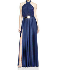 Nicole Bakti New Belted Open Back Gown Size 8 #DN 547