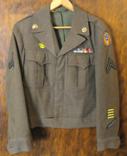 WWII US Army Air Corps Ike Jacket, Wool Dress Jacket w/Patches,Medals,13th   ME1