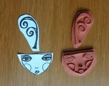 """NEW ZETTIOLOGY Teesha Moore  """"ZETTI GILRS SPRIG OF CURLS"""" UNMOUNTED RUBBER STAMP"""