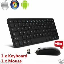 100% Orignal Mini Terabyte Black Wireless Keyboard With Mouse 2.4 GHz + Cover