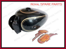 New Royal Enfield Black Painted Petrol Fuel Gas Tank 14 Litre With Logo