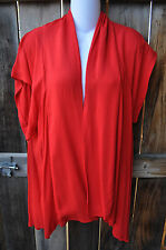 NEW ART TO WEAR FLAIR JACKET IN CLASSIC SOLID SCARLET RED BY MISSION CANYON, OS!