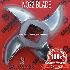 Salvador N ° 22 Acero Inoxidable Mincer Cuchillo, Mincer, Blade, borde curvado