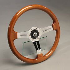 Holzlenkrad Sportlenkrad Holz Chrom 360mm VW Käfer Golf 1 Käfer Scirocco GTI GLI