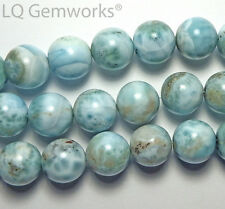 "8"" Strand LARIMAR 14.5mm Round Beads NATURAL Dominican Republic"
