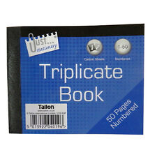 Mini Triplicate Book - 1 to 50 Numbered Pages – Ruled - Size 127mm x 103mm
