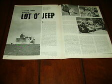 JEEP POWERED WITH A 327 CHEVY ENGINE ***ORIGINAL 1963 ARTICLE***