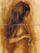 Original Modern Nude Portrait Oil Paintings Painting Art Canvas Drunk Sexy Girl