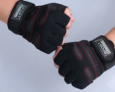 Weight Lifting Gym Gloves Workout Wrist Wrap Sports Exercise Training Fitness*