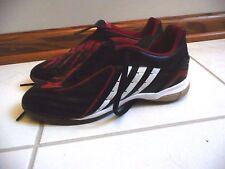 Adidas Predator Indoor Soccer Cleats Size 6 Red Black Excellent