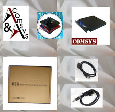 Externo USB 2.0 DVD-ROM CD RW CD ± RW CD writer quemador unidad PC Mac Black OVP