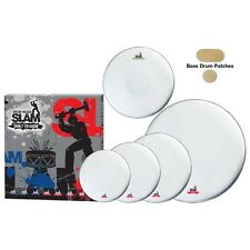 New Slam Single Ply Coated Medium Weight Drum Head Pack for Drum Kit
