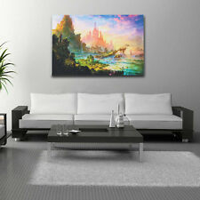 Popular Psychedelic Trippy Art Silk Fabric Cloth Castle Poster Home Wall Decor *