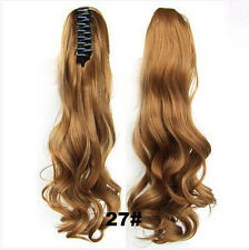 Hot 55cm Claw Pony tail Ponytail Clip In On Hair Extension Wavy  Style Synthetic
